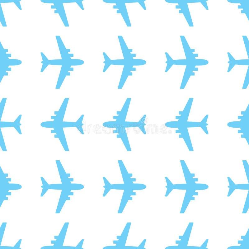 Modèle sans couture avec des avions illustration stock