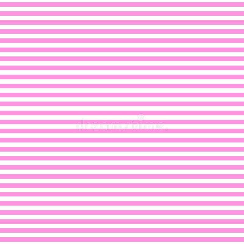 Modèle sans couture avec des couleurs de ton du rose deux Fond horizontal d'abrégé sur rayure illustration stock