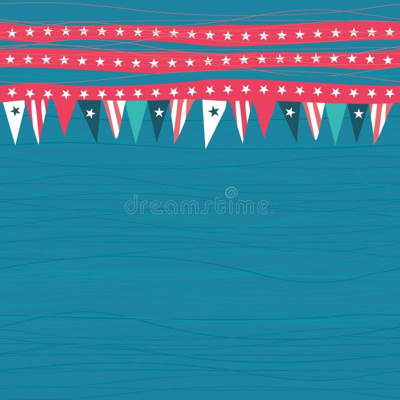 Modèle sans couture avec des drapeaux avec des couleurs américaines illustration libre de droits