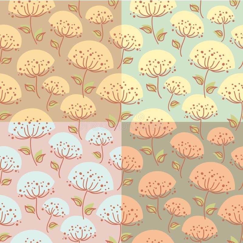 Modèle sans couture avec des fleurs illustration stock