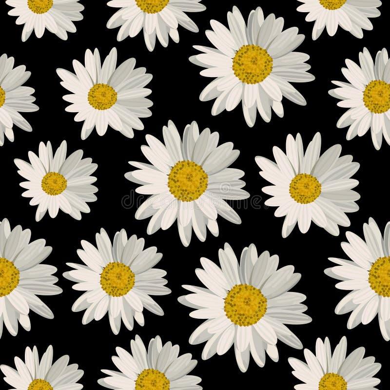 Download Modèle Sans Couture Avec Des Fleurs De Marguerite Illustration Stock - Illustration du zone, abstrait: 76083527