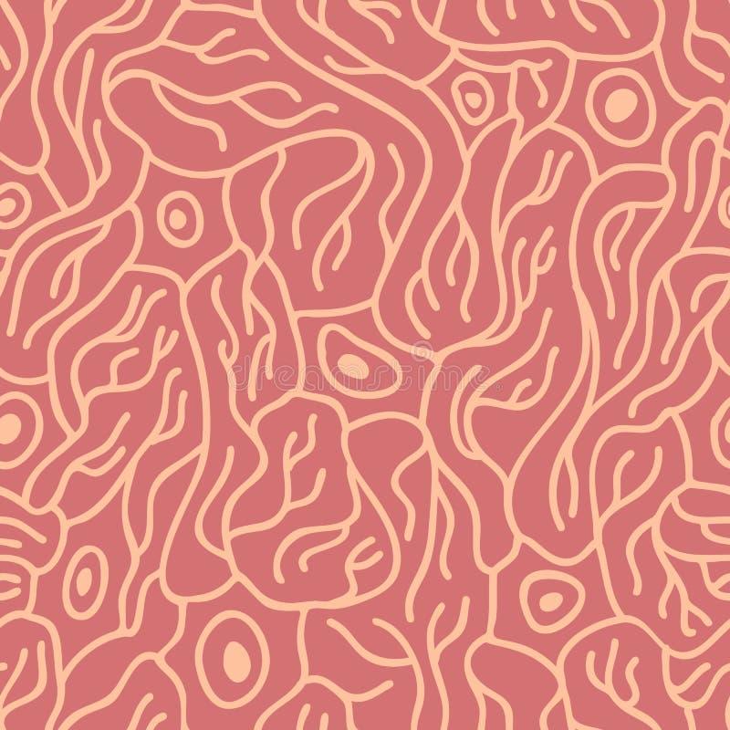 Modèle sans couture avec des neurones illustration de vecteur