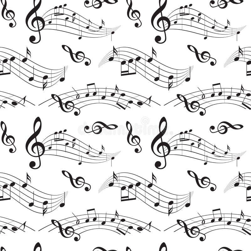 Modèle sans couture avec des notes de musique - dirigez le fond illustration libre de droits