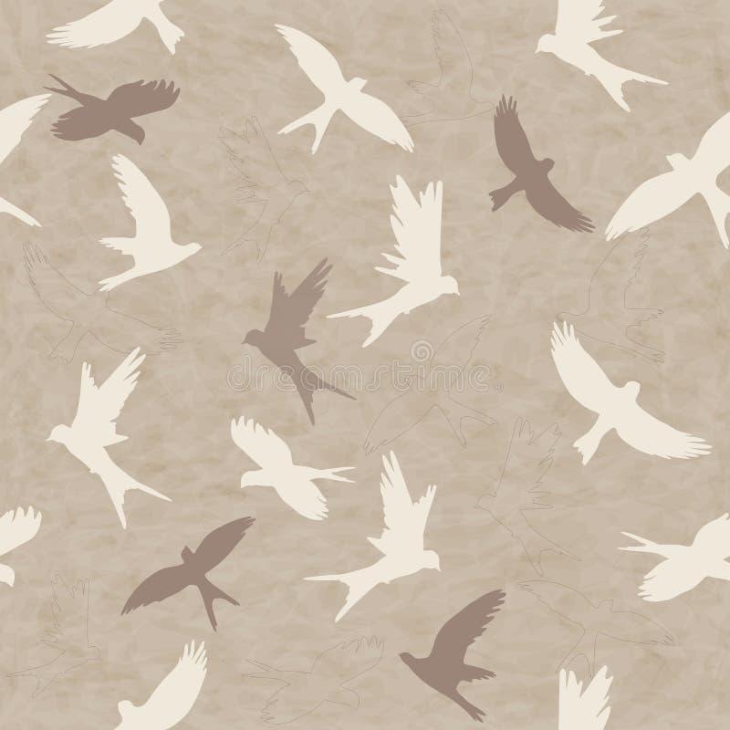 Modèle sans couture avec des oiseaux illustration libre de droits