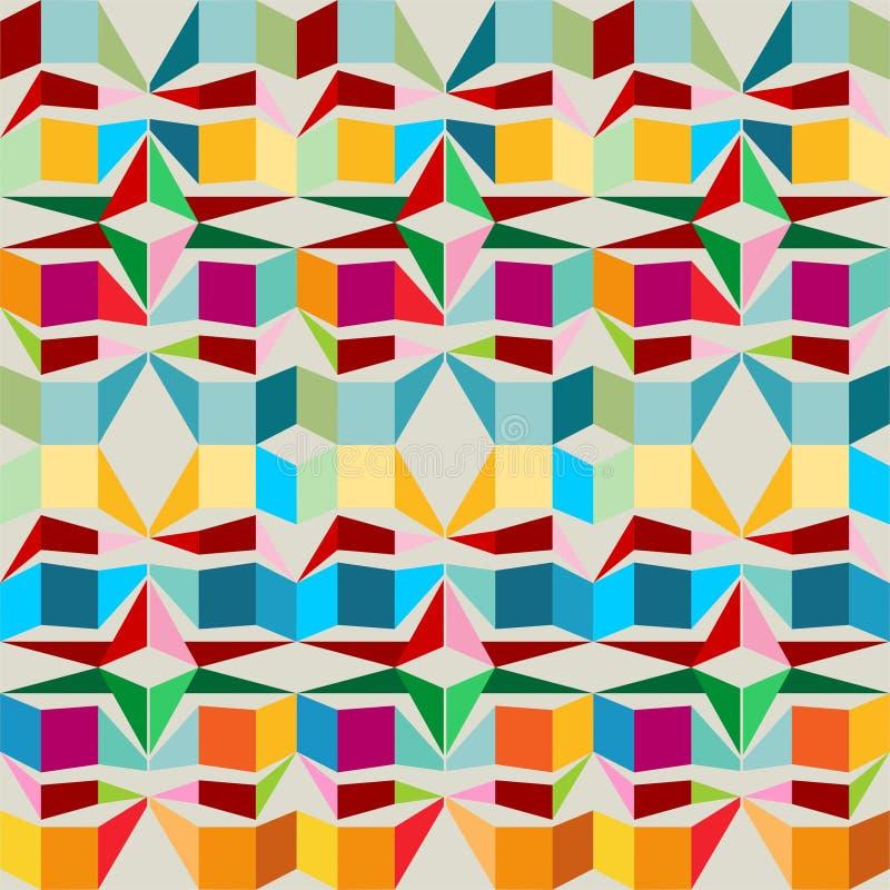 Modèle sans couture avec des places et des triangles illustration de vecteur