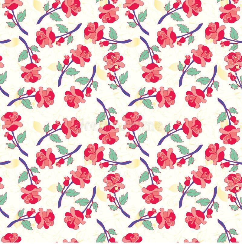 Modèle sans couture avec des roses de vintage illustration libre de droits