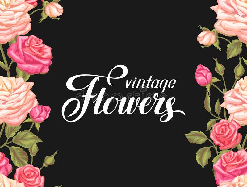 Download Modèle Sans Couture Avec Des Roses De Vintage Rétros Fleurs Décoratives Facile à Utiliser Pour Le Contexte, Textile, Papier D'emb Illustration de Vecteur - Illustration du nature, main: 77153739