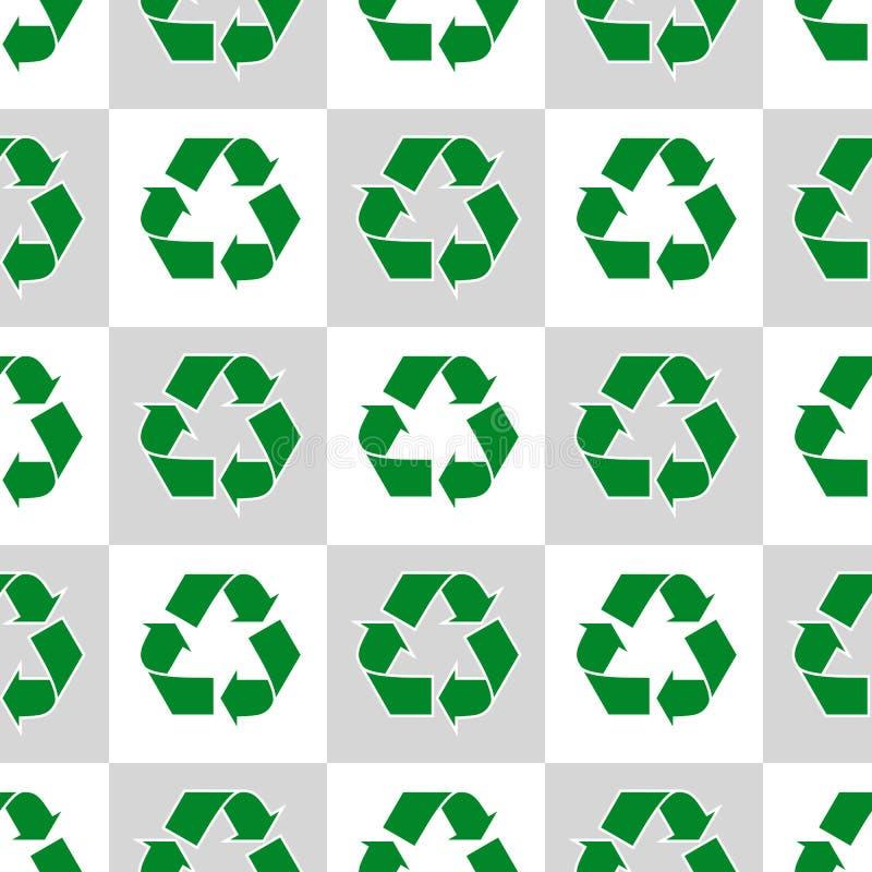 Modèle sans couture avec des signes d'écologie et des icônes - fond abstrait illustration de vecteur
