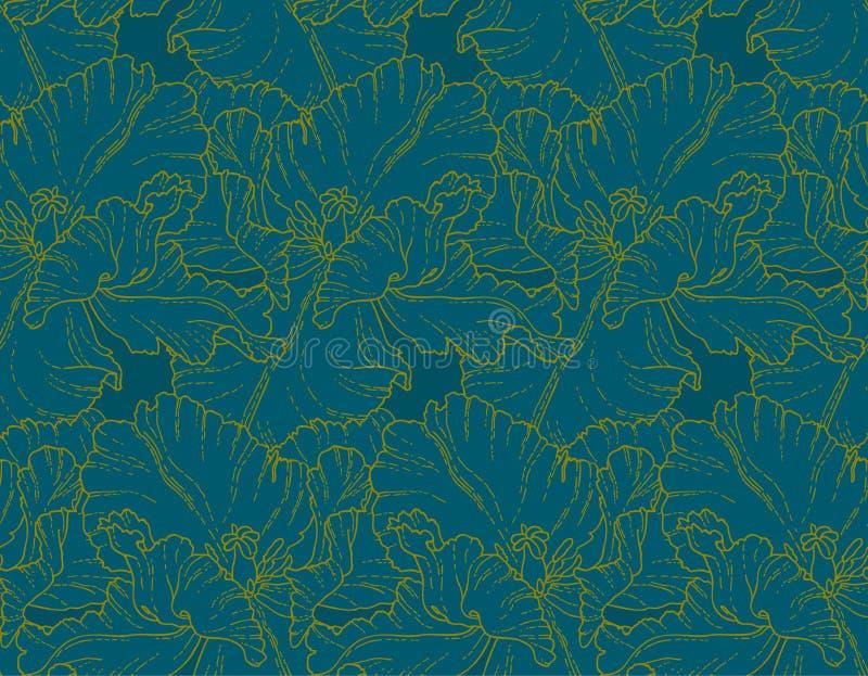 Modèle sans couture avec des tulipes illustration libre de droits