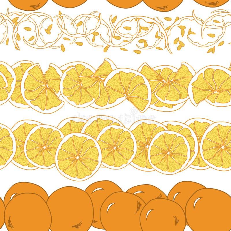 Modèle sans couture avec l'orange illustration libre de droits