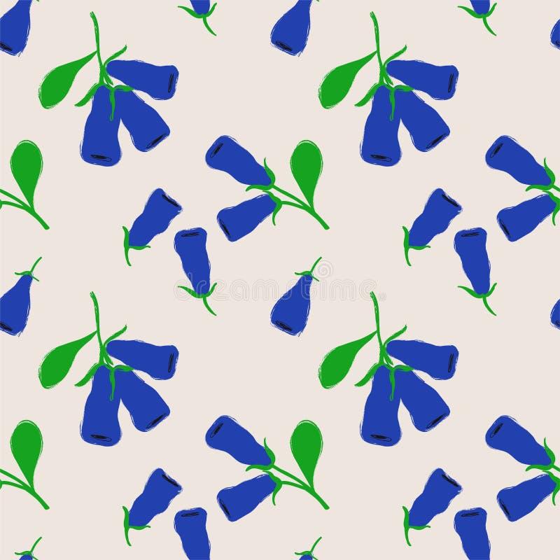 Modèle sans couture avec Honeysuckle Berries illustration stock