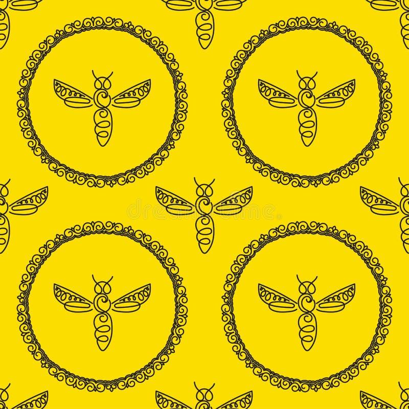 Download Modèle Sans Couture Avec L'abeille Photo stock - Image du riche, rucher: 87702148