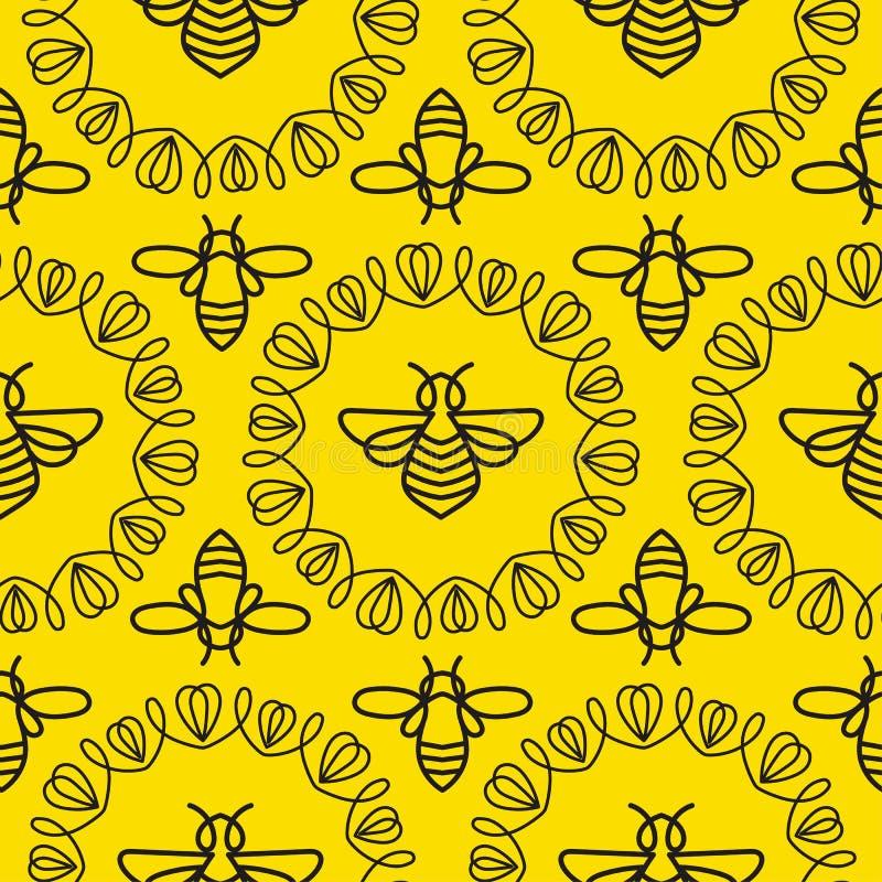 Download Modèle Sans Couture Avec L'abeille Image stock - Image du mode, hydromel: 87702159