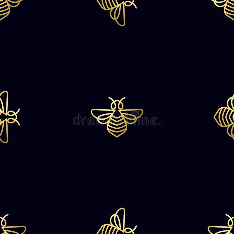 Download Modèle Sans Couture Avec L'abeille D'or Photo stock - Image du mode, riche: 87701994