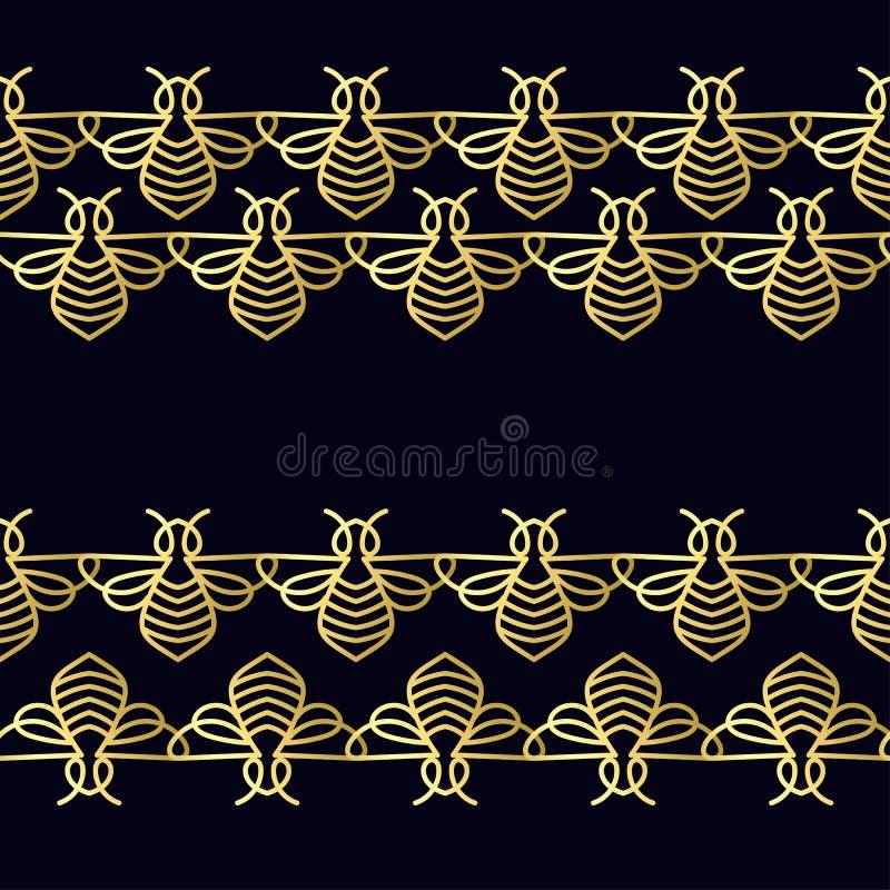 Download Modèle Sans Couture Avec L'abeille D'or Photo stock - Image du descripteur, silhouette: 87702004