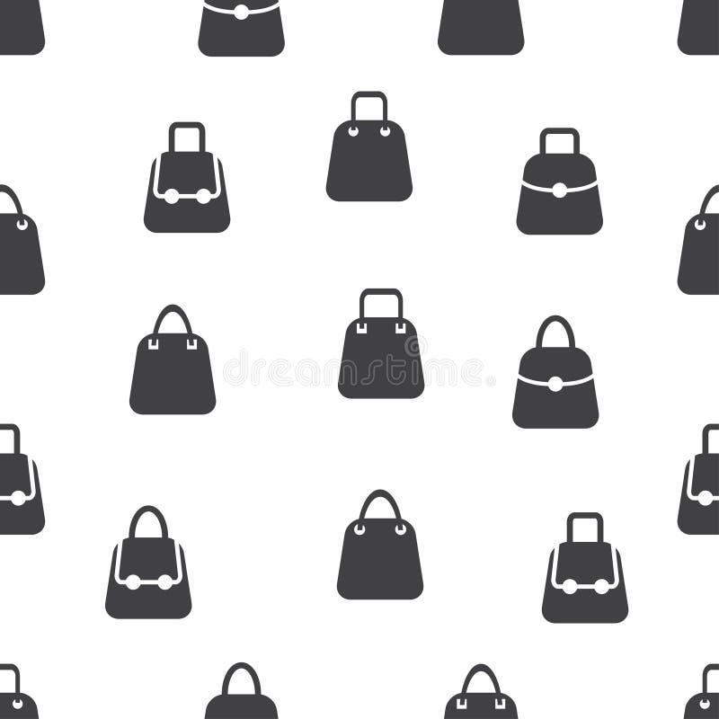 Modèle sans couture avec l'icône de sac sur le fond blanc images stock