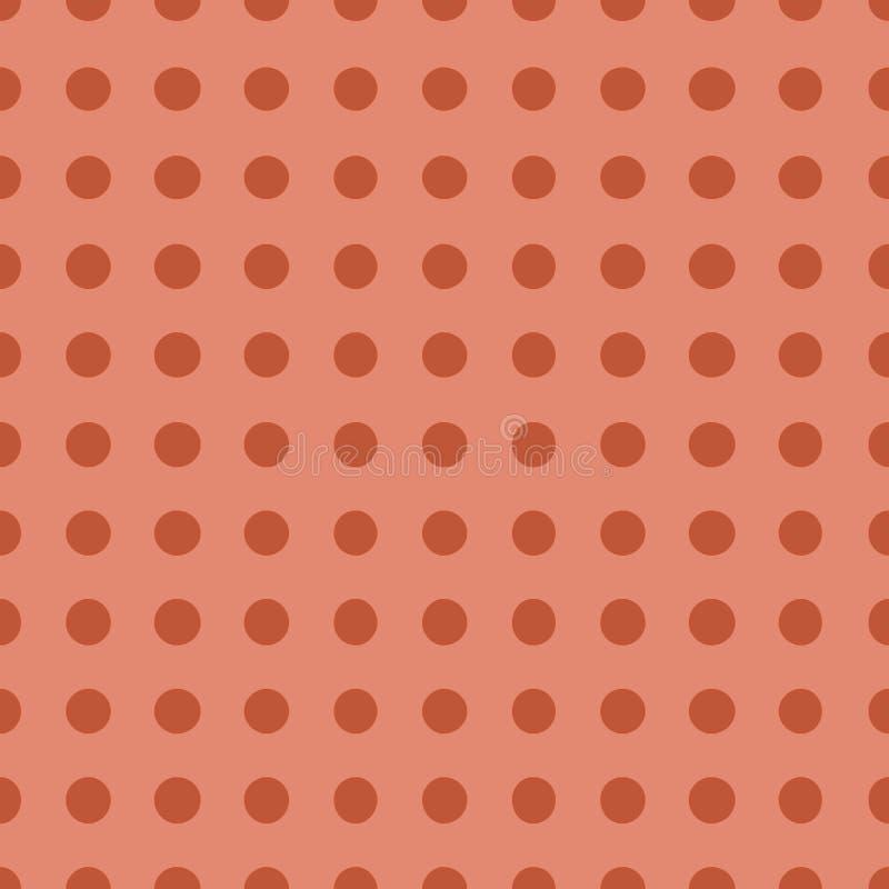 Modèle sans couture avec l'illustration de corail à la mode de vecteur de couleur de point de polka illustration libre de droits
