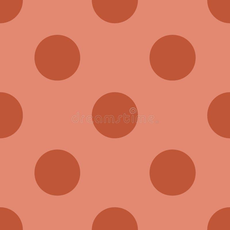 Modèle sans couture avec l'illustration de corail à la mode de vecteur de couleur de point de polka illustration de vecteur