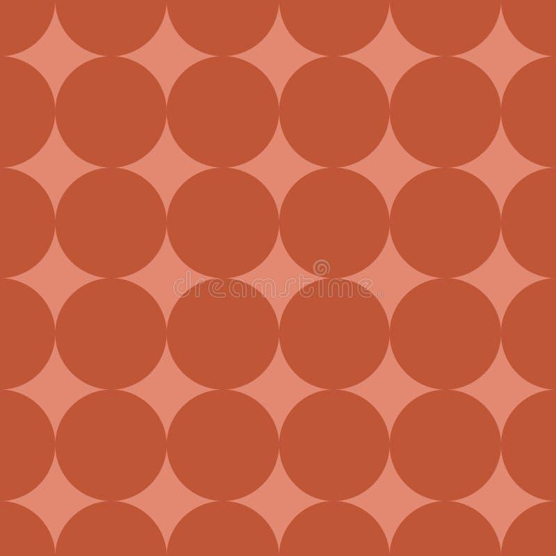 Modèle sans couture avec l'illustration de corail à la mode de vecteur de couleur de point de polka illustration stock