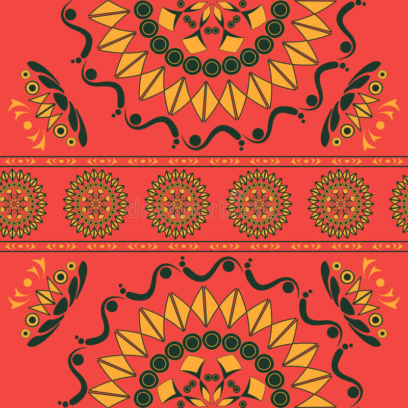 Modèle sans couture avec l'ornement floral dans le style national russe image libre de droits