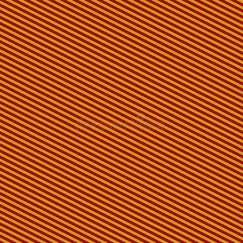 Modèle sans couture avec l'ornement géométrique symétrique Abrégé sur rayé diagonale rouge sur le fond jaune lignes papier peint illustration stock