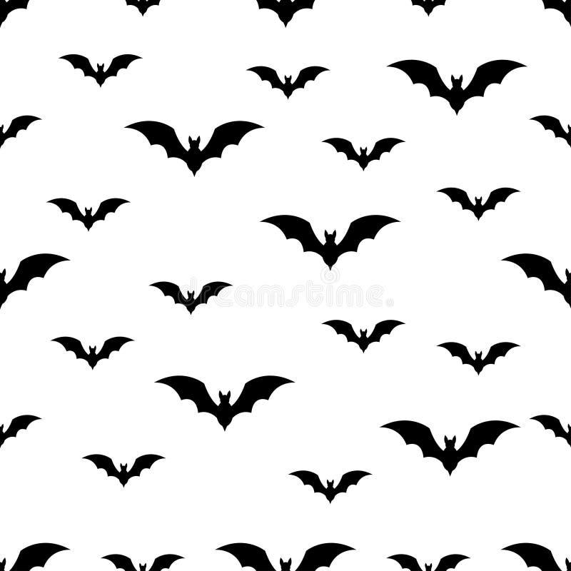 Modèle sans couture avec la batte Halloween sur le fond blanc photos libres de droits
