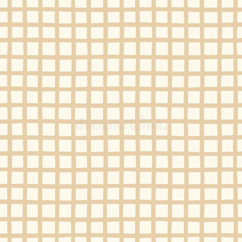 Modèle sans couture avec la texture géométrique à carreaux illustration libre de droits