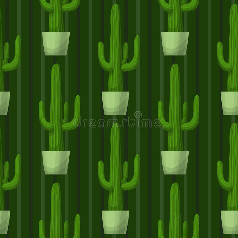 Modèle sans couture avec le cactus illustration libre de droits