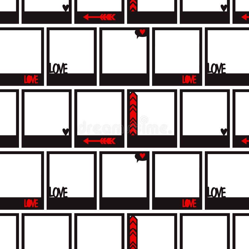 Modèle sans couture avec le cadre de photo illustration libre de droits