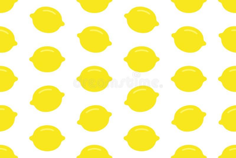 Modèle sans couture avec le citron illustration stock