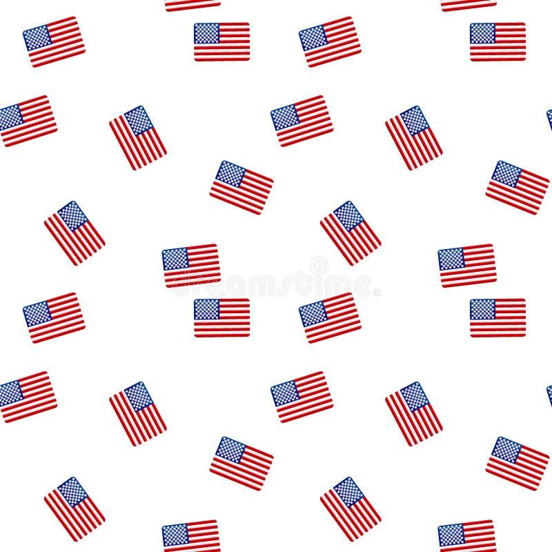 Modèle sans couture avec le drapeau américain photos stock