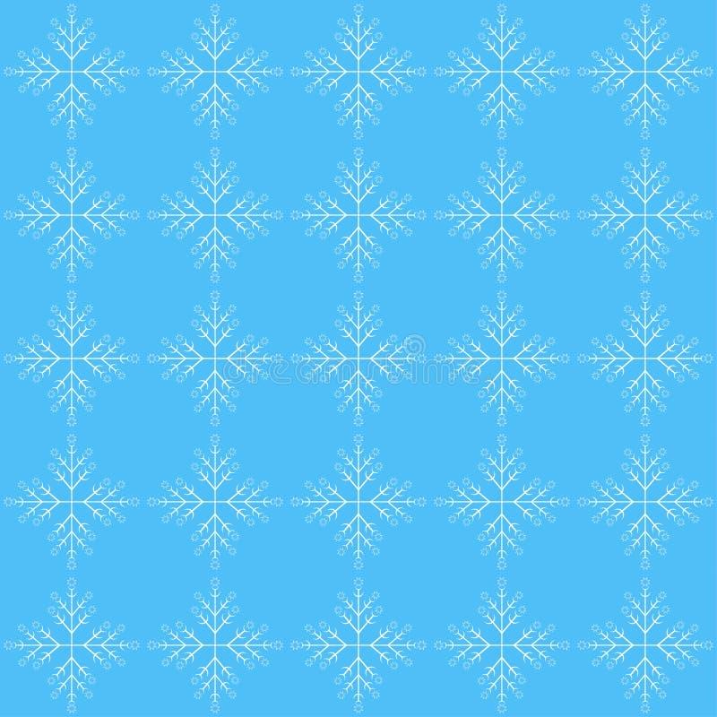 Modèle sans couture avec le flocon de neige illustration stock