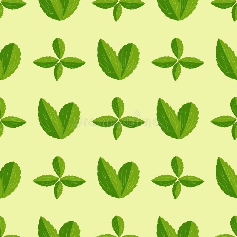 Modèle sans couture avec le fond floral de mode de textile d'usine d'été de feuilles de vecteur d'illustration de nature de conce illustration libre de droits