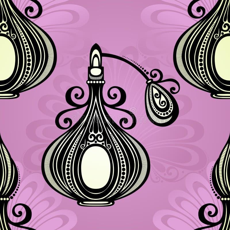 Modèle sans couture avec le parfum fleuri décoratif illustration libre de droits