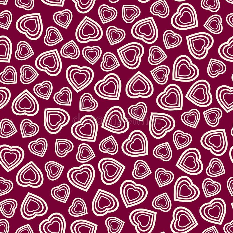mod le sans couture avec le symbole stylis de coeur papier peint romantique jour heureux du s. Black Bedroom Furniture Sets. Home Design Ideas