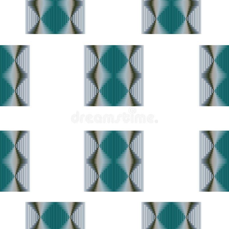 Modèle sans couture avec le vecteur coloré abstrait de places dans des couleurs bleues et grises illustration de vecteur