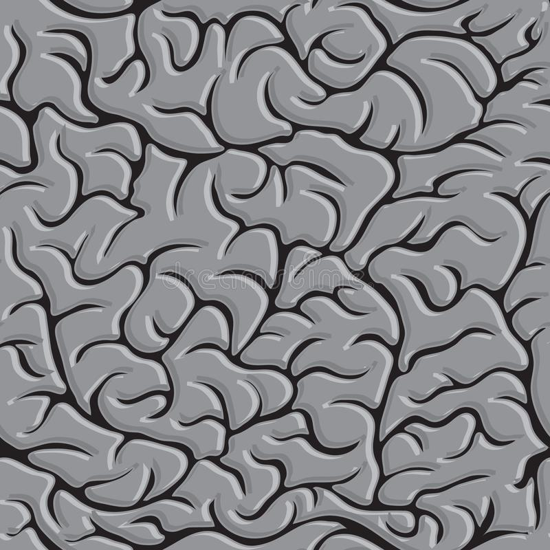 Modèle sans couture avec le vecteur de cerveaux dans le monochrome illustration libre de droits