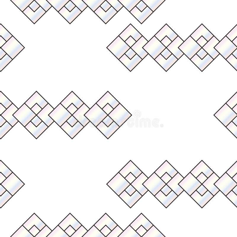 Modèle sans couture avec le vecteur gris abstrait de places - modèle géométrique de formes illustration stock
