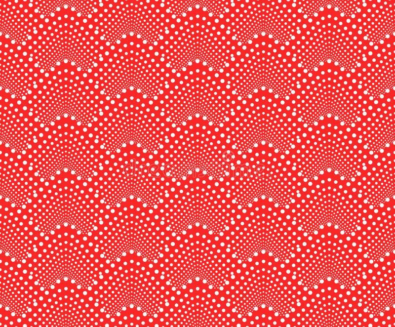 Modèle sans couture avec les échelles pointillées Vecteur répétant la texture Fond monochrome rouge élégant illustration libre de droits