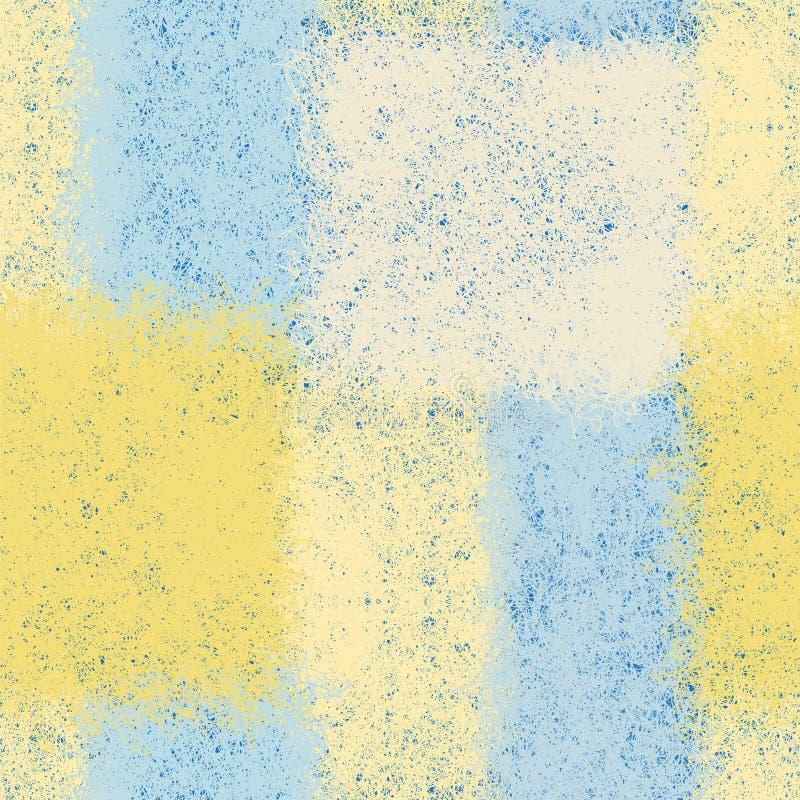Modèle sans couture avec les éléments rectangulaires d'armure dans des couleurs en pastel bleues, jaunes, blanches illustration libre de droits