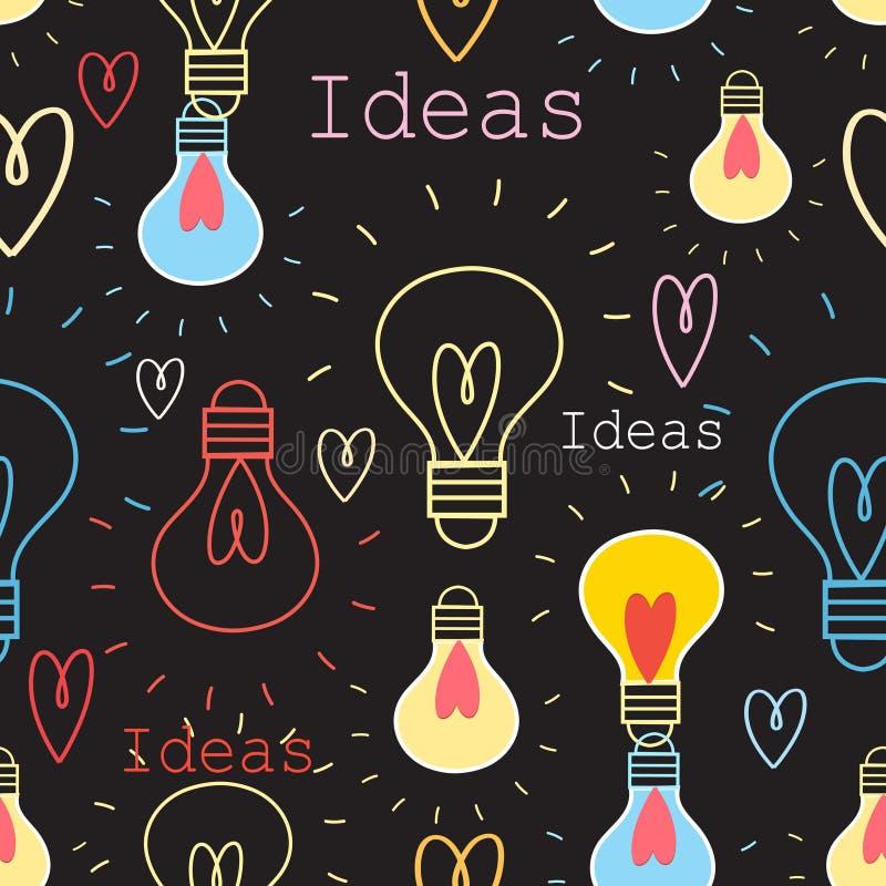Modèle sans couture avec les ampoules illustration de vecteur