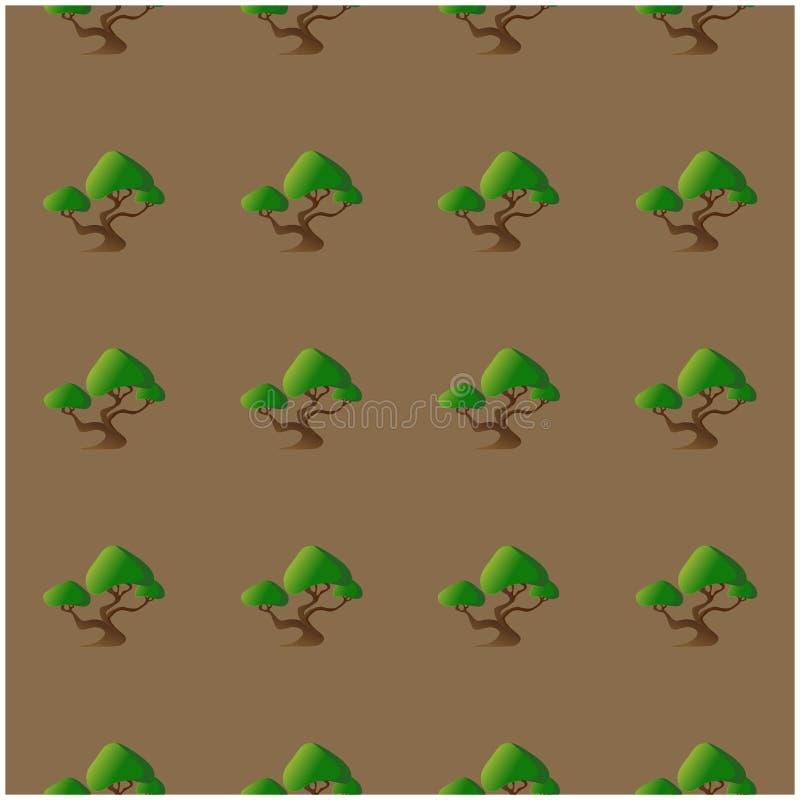 Modèle sans couture avec les bonsaïs abstraits pour votre conception photographie stock libre de droits