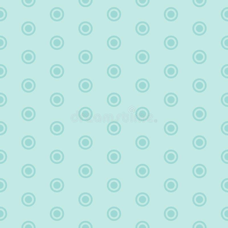 Modèle sans couture avec les cercles bleus sur le fond bleu illustration libre de droits