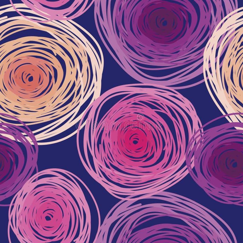 Modèle sans couture avec les cercles colorés, palette géniale illustration stock