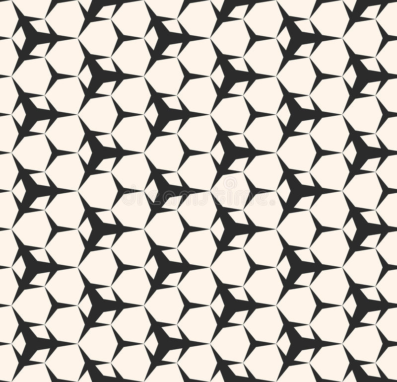Modèle sans couture avec les chiffres géométriques sharped simples, triangul illustration libre de droits