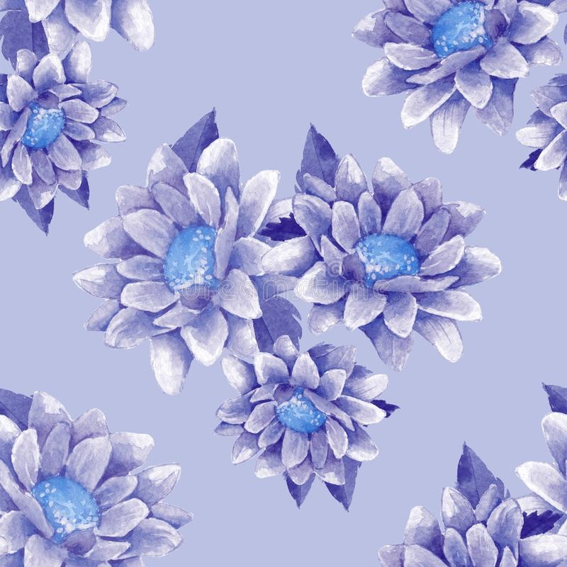Modèle sans couture avec les chrysanthèmes 10 illustration libre de droits