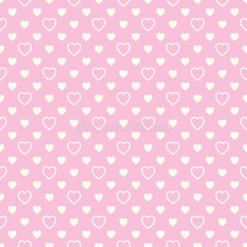 Download Modèle Sans Couture Avec Les Coeurs Beiges Sur Le Fond Rose Illustration de Vecteur - Illustration du forme, fond: 45369985