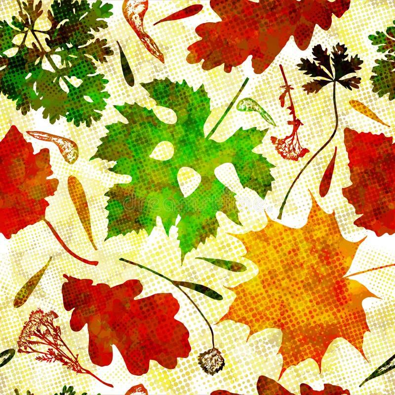 Modèle sans couture avec les feuilles d'automne colorées Vecteur, eps10 illustration de vecteur