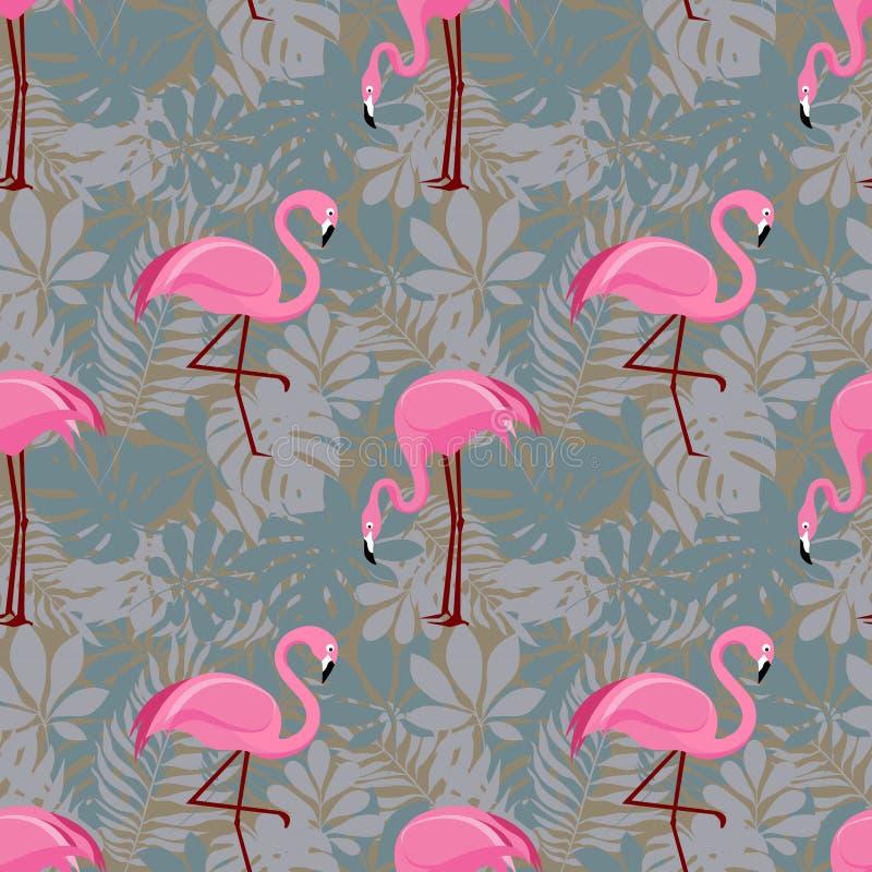 Modèle sans couture avec les flamants roses photo libre de droits