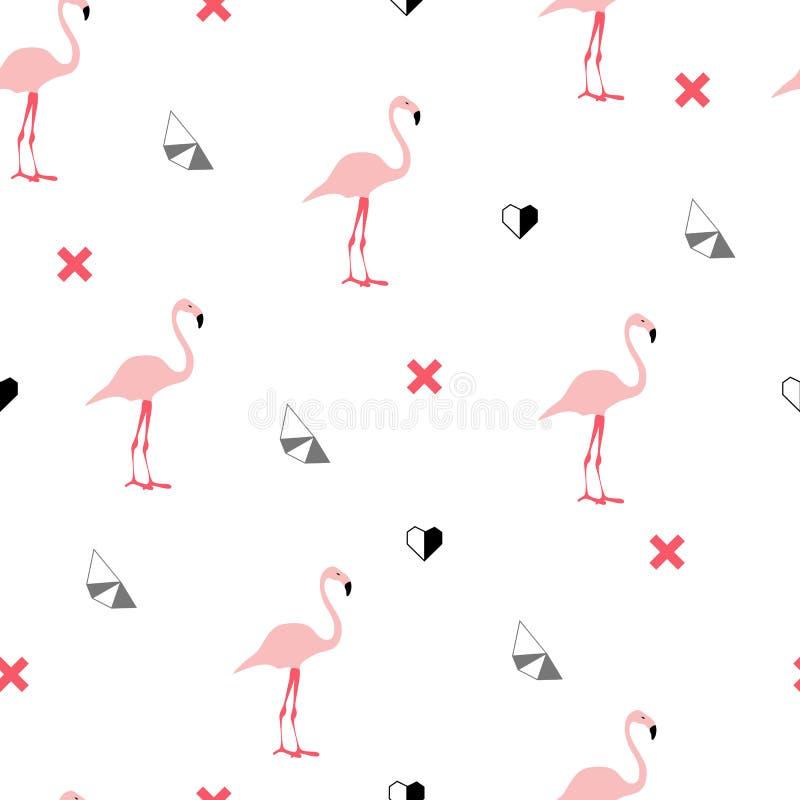 Modèle sans couture avec les flamants roses illustration stock
